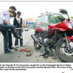 Yamaha_R15_catches_fire