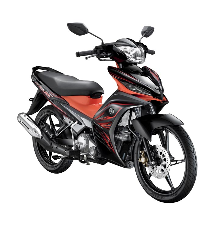 Jupiter MX auto clutch orange hitam